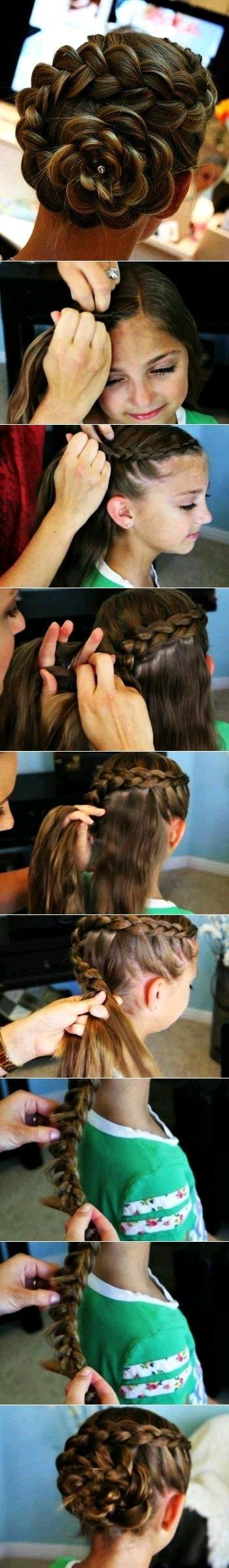 طريقة عمل تسريحة الكعكة بواسطة ظفائر الشعر بالصور #تسريحات