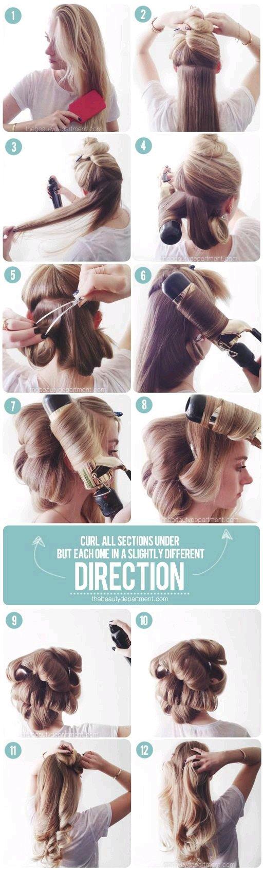 طريقة تجيد الشعر مثل المشاهير بالصور #تسريحات