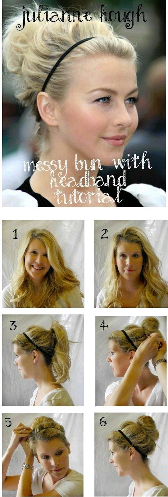 طريقة عمل كعكة الشعر العشوائية مع بندانة الشعر بالصور #تسريحات