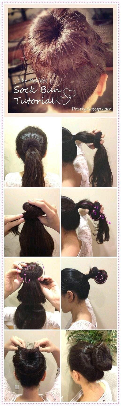 طريقة عمل كعكة الشعر المثالية بالصور #تسريحات