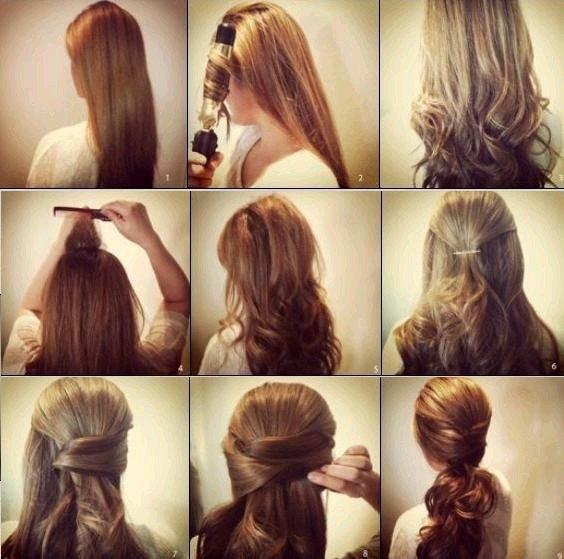 تسريح الشعر بالفير (مجعد الشعر) بطريقة جديدة #تسريحات