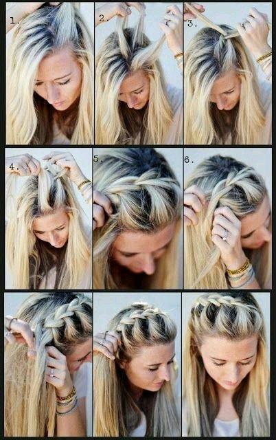 طريقة عمل ظفائر الشعر الجانبية بالصور #تسريحات