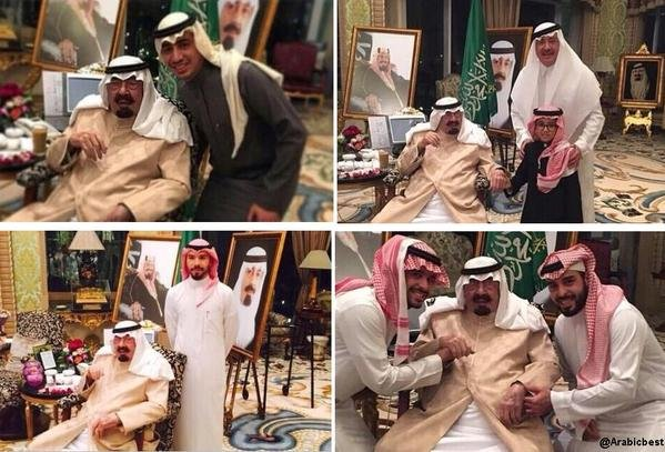 #خادم_الحرمين_الشريفين في احتفالٍ عائلي يوم أمس مع أولاده وأحفاده .