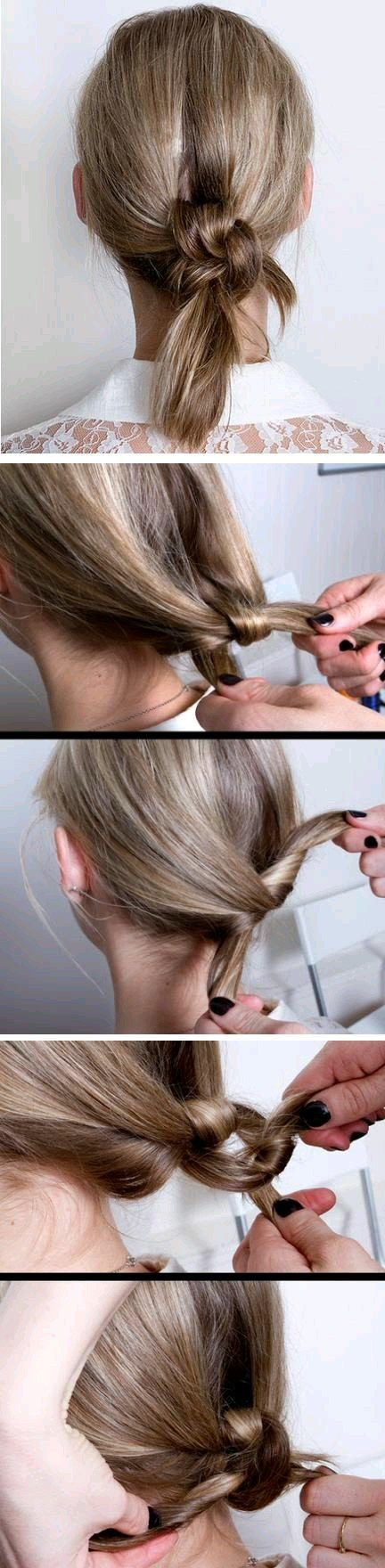 طريقة ربط الشعر ببعضه على شكل جدلة بالصور #تسريحات