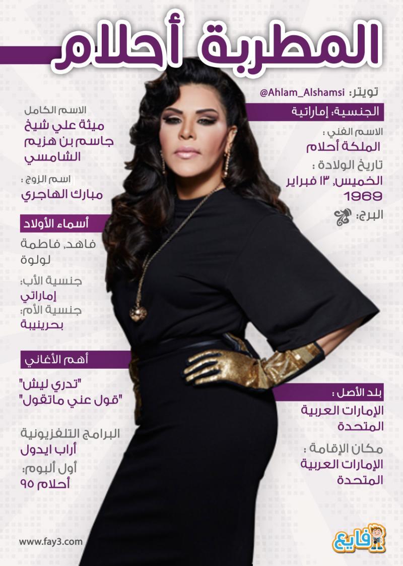 #انفوجرافيك ماذا تعرف عن الملكة #احلام الشامسي؟