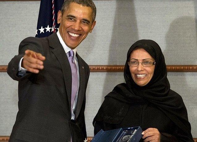 بانوراما صور #السعودية لعام ٢٠١٤ - أوباما يكرم مها المنيف اشجع إمرأة في العالم