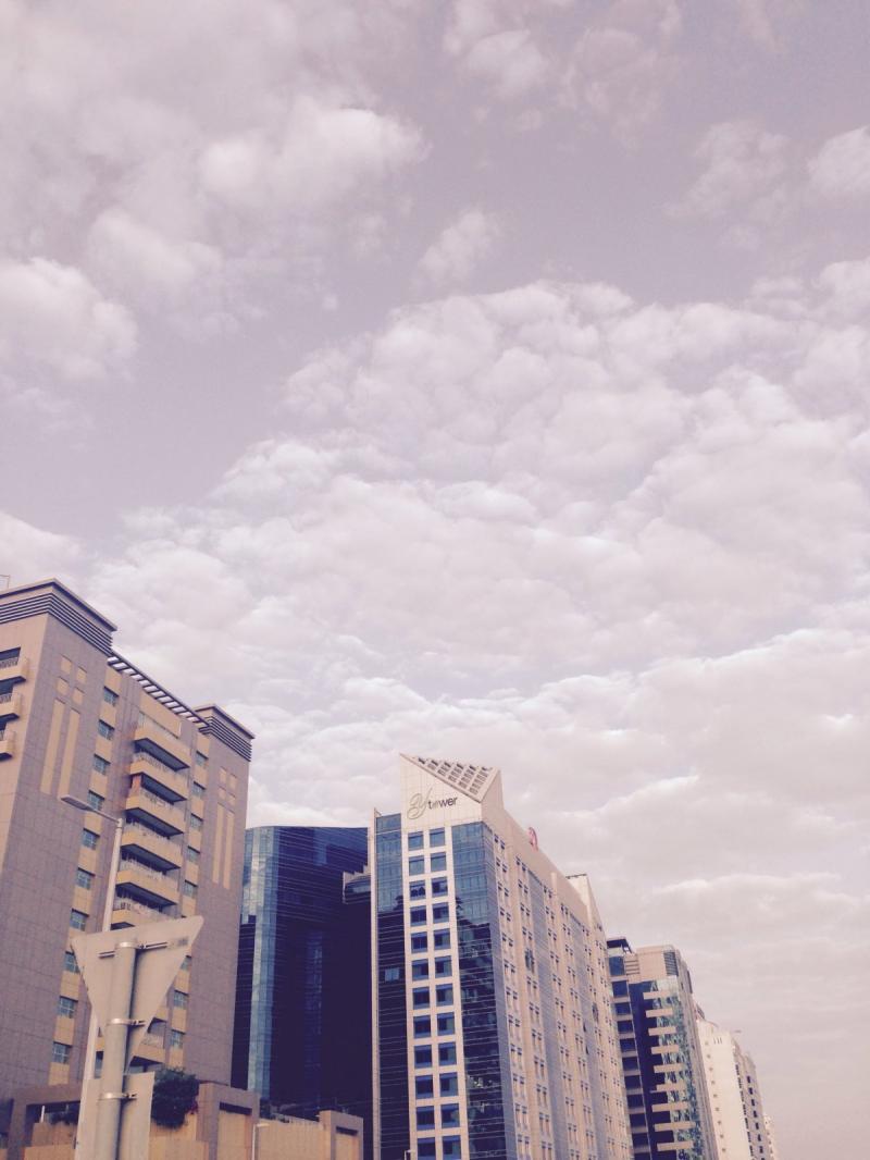صورة للصباح الباكر في منطقة المعمورة في #أبوظبي