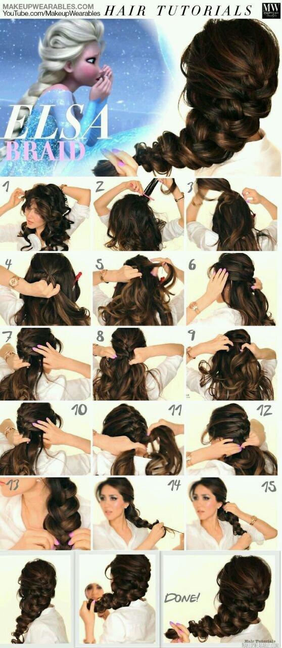 طريقة عمل ظفائر الشعر مثل ايلزا في فيلم فروزن #تسريحات