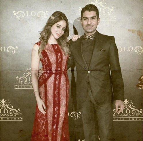 صورة تجمع #أسيل_عمران وزوجها #خالد_الشاعر