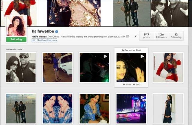 #هيفاء_وهبي أول فنانة عربية تحصل على العلامة الزرقاء من موقع التواصل الاجتماعي#انستاغرام #انستاقرام #مشاهير