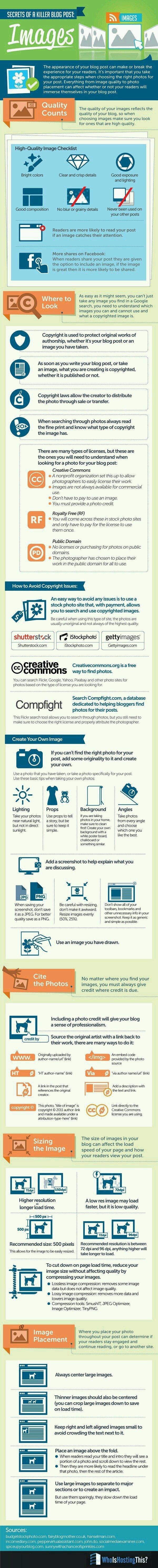 Secrets of a killer blog post: Images #infographic