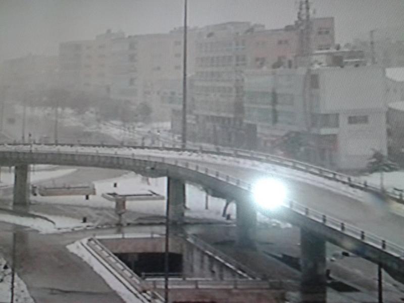 الثلوج تغمر مدينه عمان #الثلوج