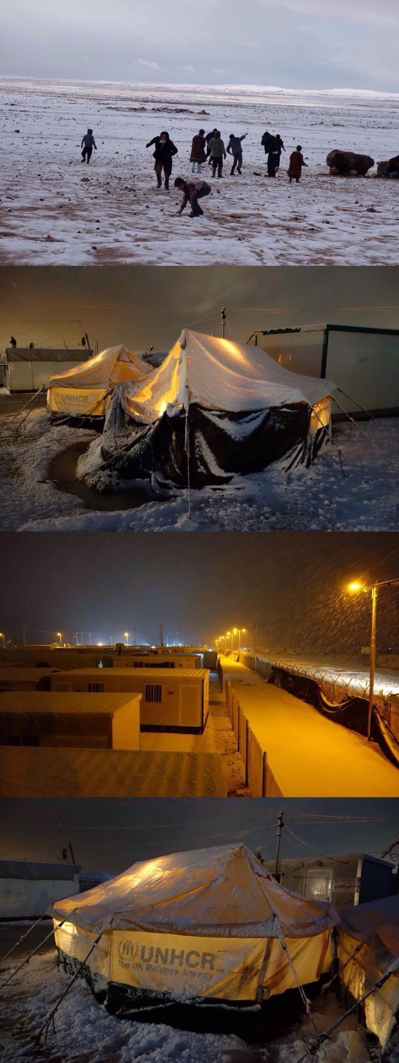 مخيم الزعتري اليوم #عاصفة_هدى