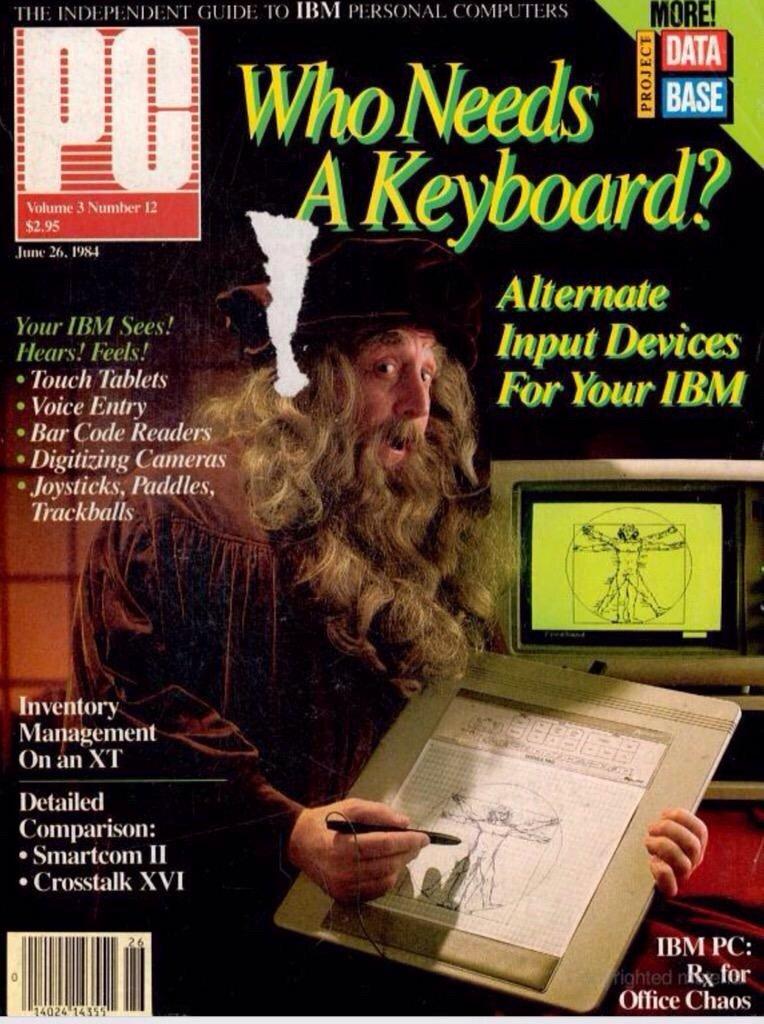 عام ١٩٨٤ أعلنت مجلة PC Magazine ان زمن لوحة المفاتيح سينتهي