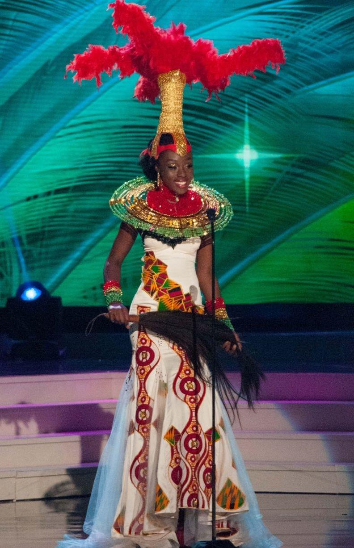 ملكات جمال الكون 2015 بملابس غريبة - ملكة جمال غانا Abena Appiah