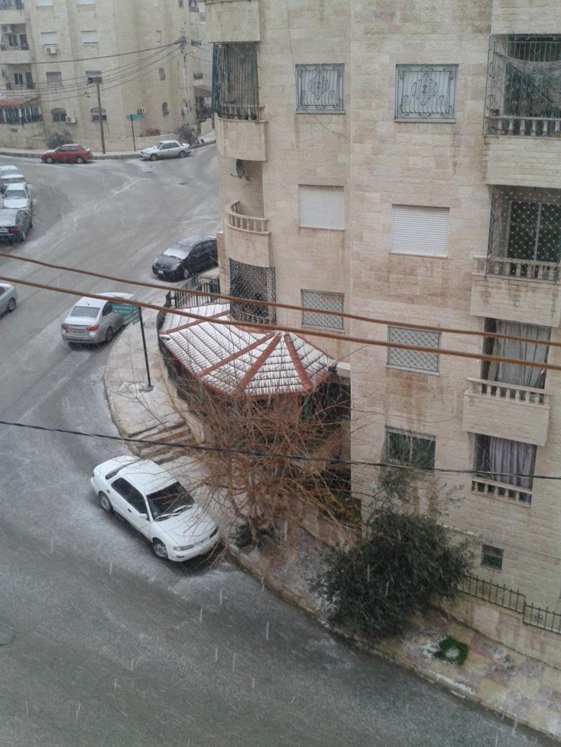 مدينه عمان الان مثل العروس ترتدي ثوبها الابيض #عمان #الأردن #عاصفة_هدی