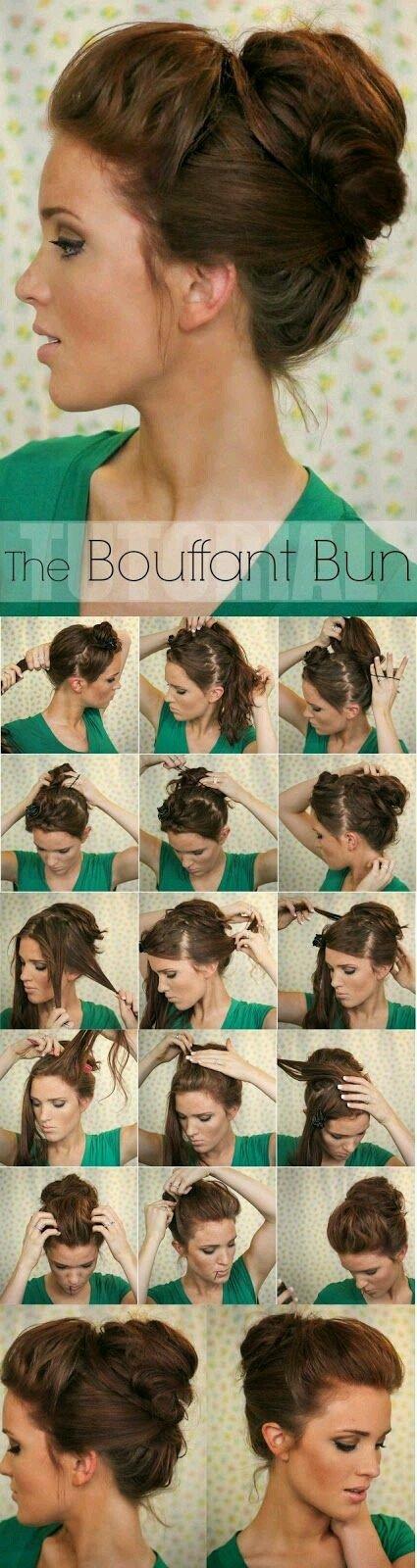 طريقة عمل كعكة الشعر المنتفخة بالصور #تسريحات