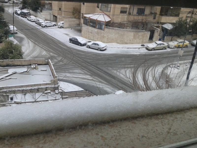 الثلوج في مدينه #عمان #الأردن #عاصفة_هدی