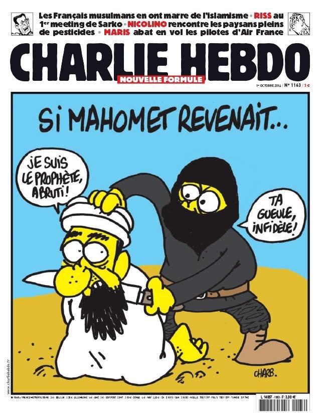 الكاريكاتير المسيء الذي نشرته مجلة Charlie Hebdo الفرنسية
