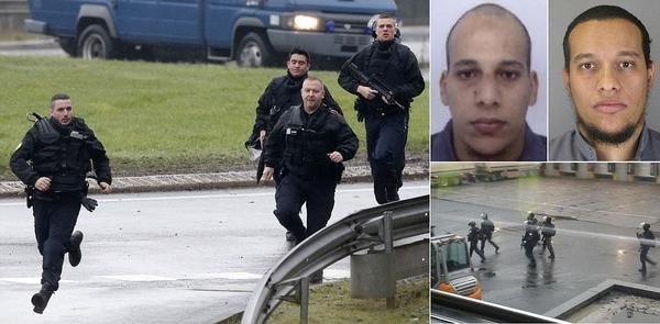 الشرطة الفرنسية تقتل سعيد و شريف الكوشي المنفذين للاعتداء على مجلة شارلي إيبدو بعد احتجازهما لرهائن