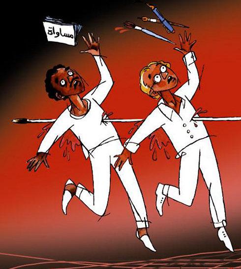 ردود فعل الصحافة العربية - #الكاريكاتير - على اعتداء #شارلي_إيبدو - صحيفة الأخبار