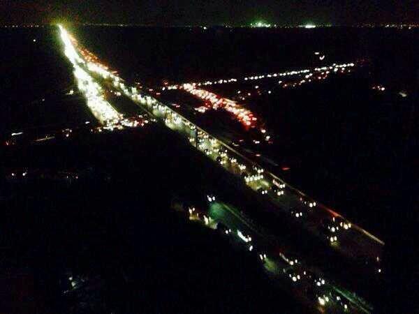صورة جوية متداولة ل #الكويت #انقطاع_الكهرباء_بالكويت #انقطاع_الكهرباء