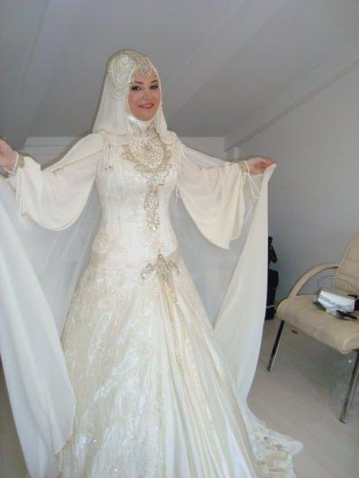 احدث موضة #صور #فساتين #زفاف #للمحجبات 2015 صوره رقم29