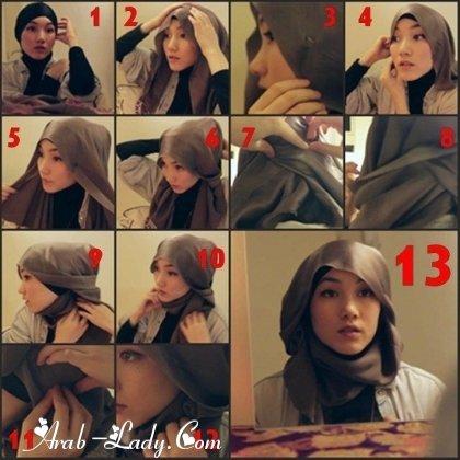 #ازياء #محجبات خطوات لف الحجاب بأكثر من شكل صوره رقم 12