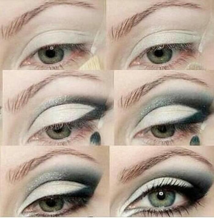 طريقة رسم #مكياج مبهر للعيون #مكياج صوره رقم 17