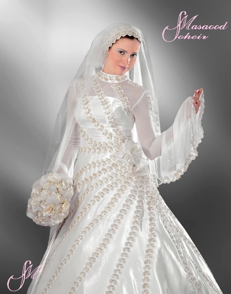 احدث موضة #صور #فساتين #زفاف #للمحجبات 2015 صوره رقم36