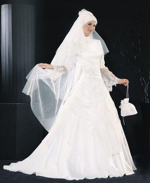 احدث موضة #صور #فساتين #زفاف #للمحجبات 2015 صوره رقم 35