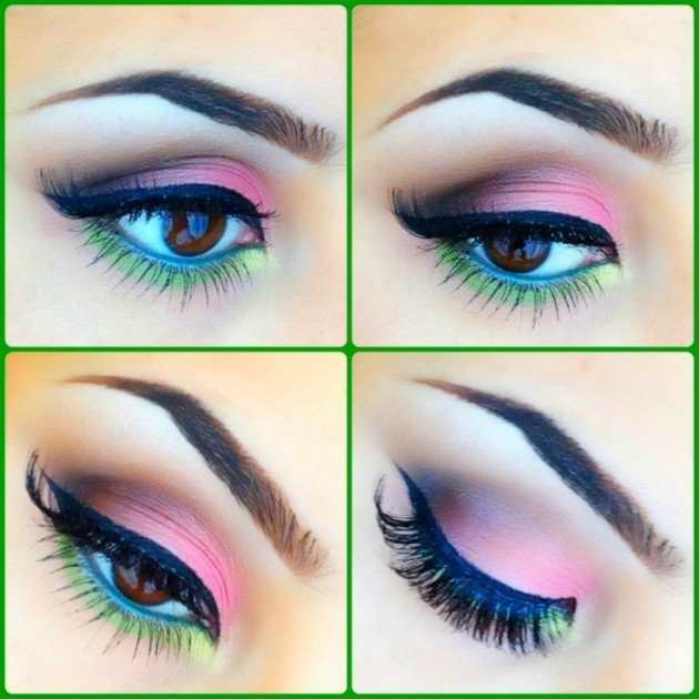 طريقة رسم #مكياج مبهر للعيون #مكياج صوره رقم 10