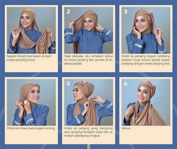 بالصور خطوات لف الحجاب بأكثر من شكل صوره رقم 17 #الحجاب