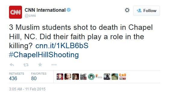 السي ان ان تلقي باللوم علی الضحايا #ChapelHillShooting