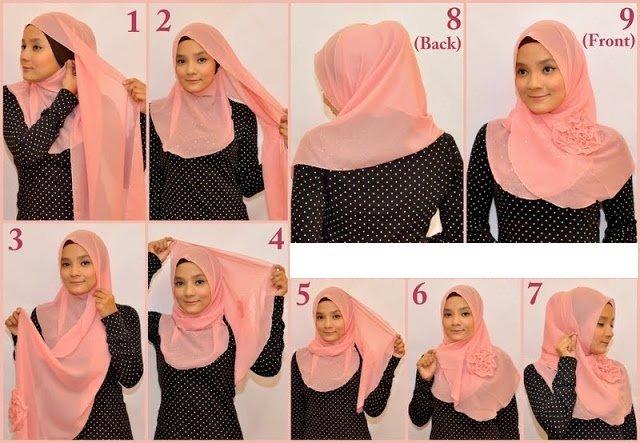 بالصور خطوات لف الحجاب بأكثر من شكل صوره رقم 18 #الحجاب