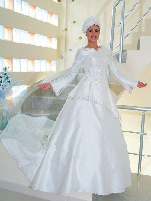 احدث موضة #صور #فساتين #زفاف #للمحجبات 2015 صوره رقم 31