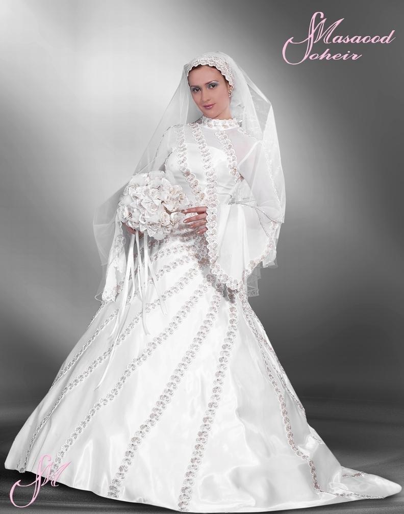 احدث موضة #صور #فساتين #زفاف #للمحجبات 2015 صوره رقم37