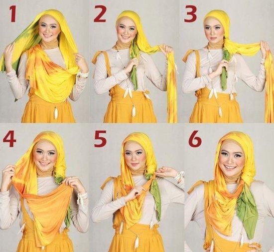 بالصور خطوات لف الحجاب بأكثر من شكل صوره رقم 22 #الحجاب