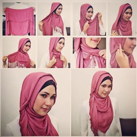 بالصور خطوات لف الحجاب بأكثر من شكل صوره رقم 19 #الحجاب