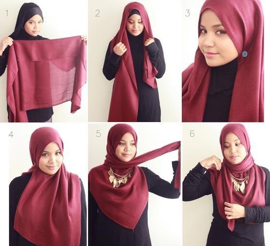 بالصور خطوات لف الحجاب بأكثر من شكل صوره رقم 21 #الحجاب