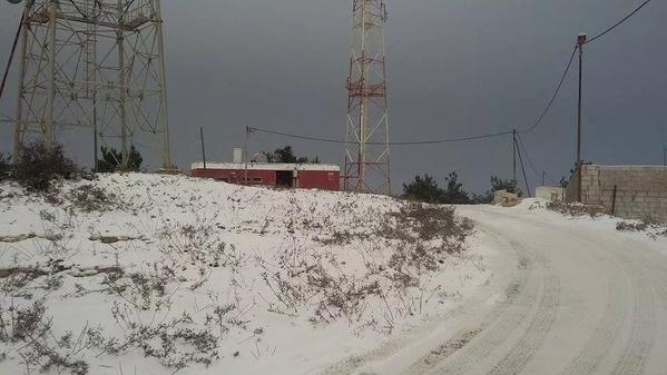 الثلوج صباح اليوم في #عجلون 12/2/2015 #jo #الاردن