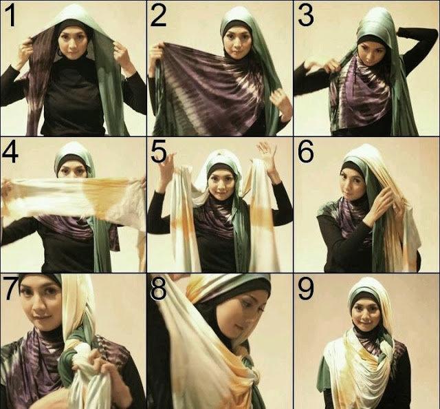 بالصور خطوات لف الحجاب بأكثر من شكل صوره رقم 15 #الحجاب