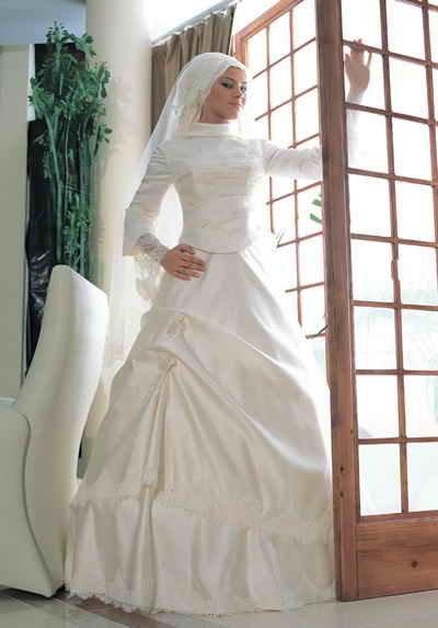 احدث موضة #صور #فساتين #زفاف #للمحجبات 2015 صوره رقم 30