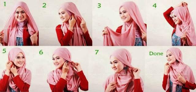 بالصور خطوات لف الحجاب بأكثر من شكل صوره رقم 16 #الحجاب