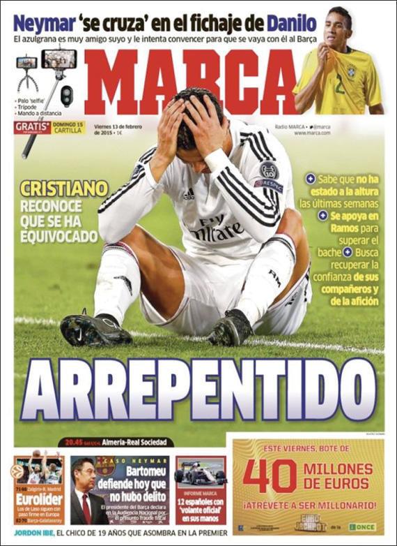 الماركا: #كريستيانو_رونالدو يعتذر آسف #ريال_مدريد #كوره