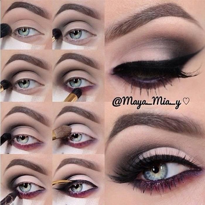 طريقة رسم #مكياج مبهر للعيون #مكياج صوره رقم 16