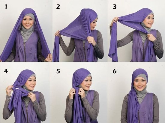 بالصور خطوات لف الحجاب بأكثر من شكل صوره رقم 24 #الحجاب