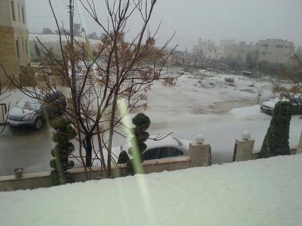 #صوره من #تلاع_ العلي الآن #العاصفة_جنى #جنى #عمان #الاردن 19/2/2015