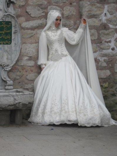 احدث موضة #صور #فساتين #زفاف #للمحجبات 2015 صوره رقم26