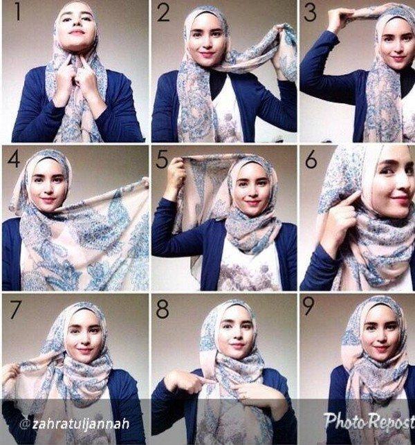 بالصور خطوات لف الحجاب بأكثر من شكل صوره رقم 26 #الحجاب